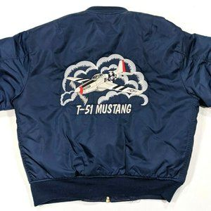 Rothco MA-1 Embroidered T-51 Mustang Flight Jacket